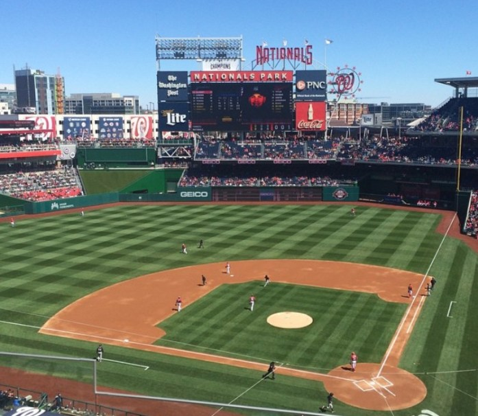 Nationals Park, but in early spring 2015, not 2016.
