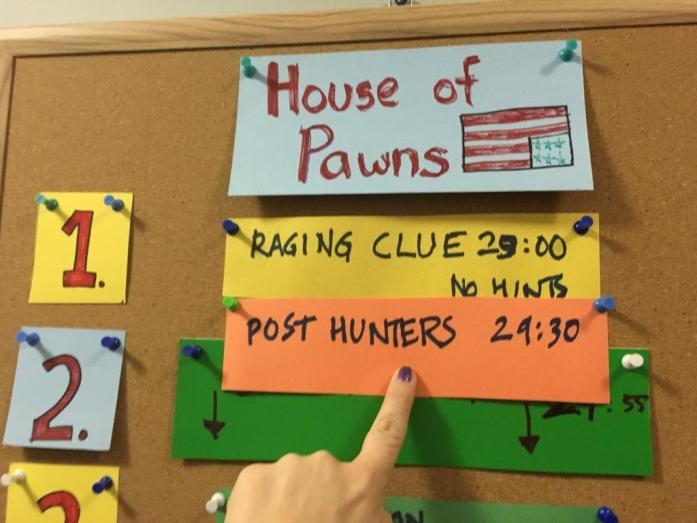 Escape Artist House of Pawns leaderboard may 2016