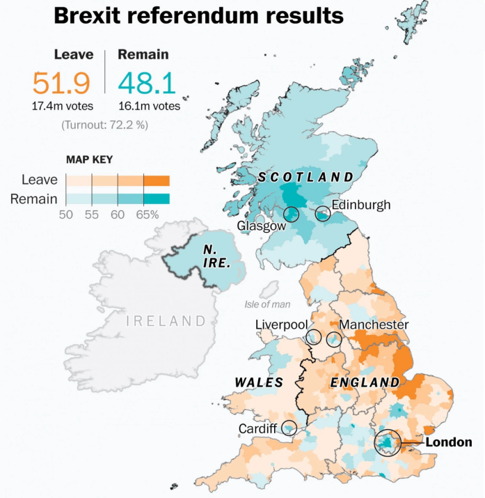 brexit result map