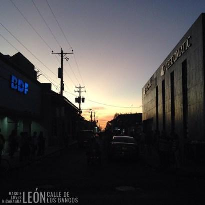 Calle de los Bancos León Nicaragua