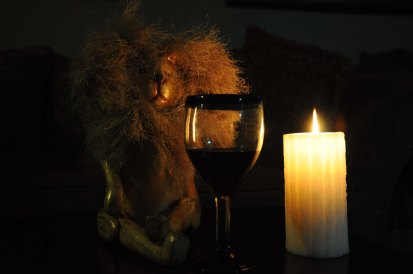 Chilling by candlelight