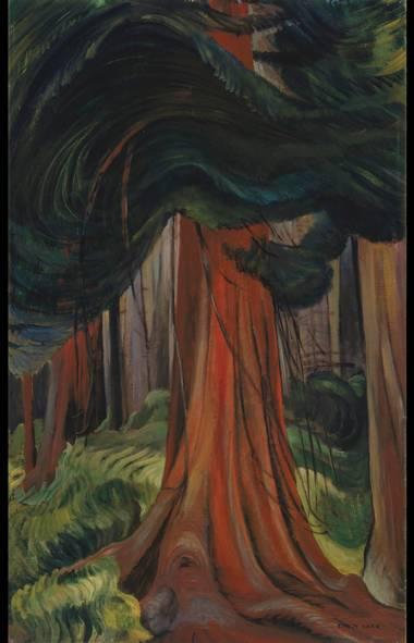 Emily Carr, Red Cedar, 1931, oil on canvas