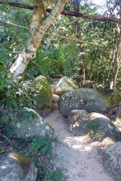 trail through boulders