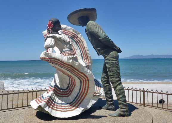 Puerto Vallarta Dancers sculpture on Malecon, Puerto Vallarta