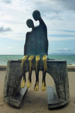 Nostalgia Sculpture on the Malecon, Puerto Vallarta