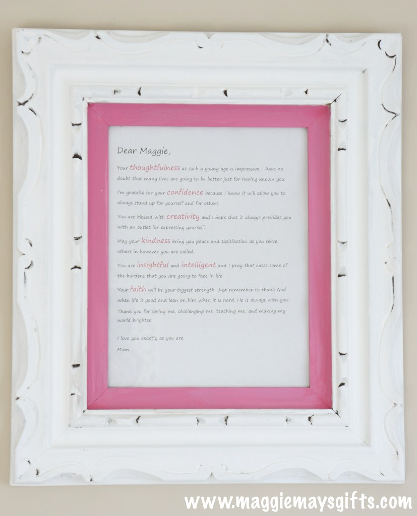 Frame And Display A Love Letter   Maggie May's