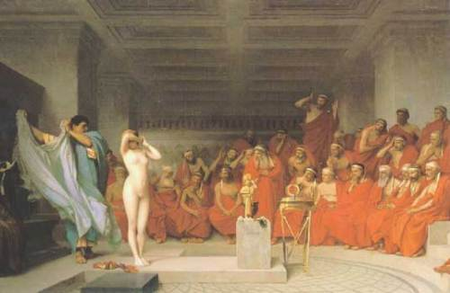 Phryne Before the Judges Gerome 1861