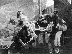woman tortured by Inquisition