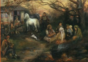 Pennsylvania Gypsy Camp in Oley Township by Mary Leisz (1927)