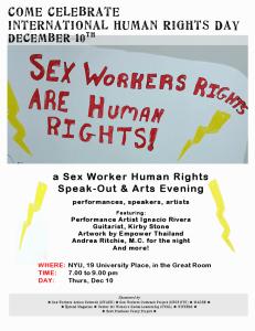 NYU Human Rights Day poster