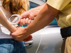 arrested teen girl