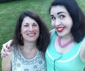Cathryn and me at the Everleigh Club site 7-19-14