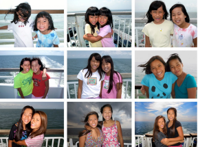 Gates daughters on ferry
