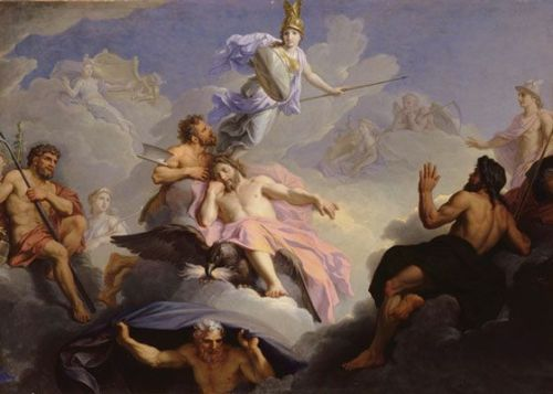 Birth of Athena by Rene Antoine Houasse (before 1688)