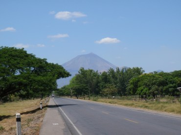 Volcan San Cristobal as we are riding