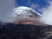 the snowy top of the highest peak in Ecuador