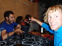 Wine is a must, which Alvaro seems to readily agree