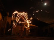 Bryan's playing with sparklers
