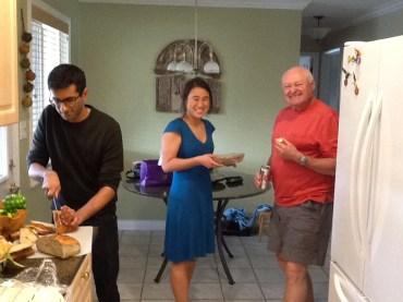 Khalid, my sister Jenn and Bill, Bryan's dad