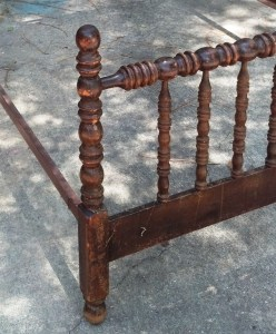 This Jenny Lind style bed cost me $40 at a flea market and was in desperate need of some TLC