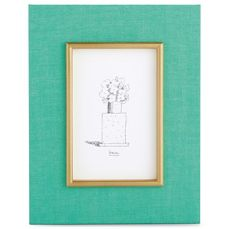 Micheal Graves Turquoise & Gold Frame $36