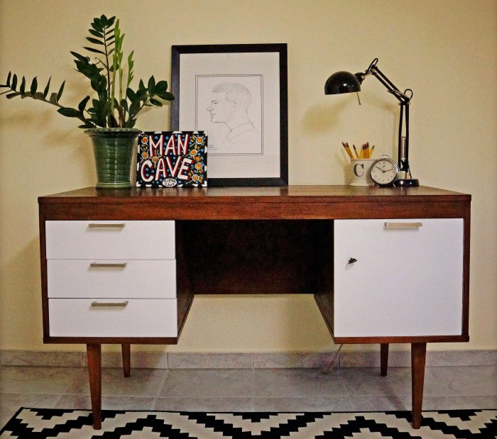 Mid-Century Desk Makeover