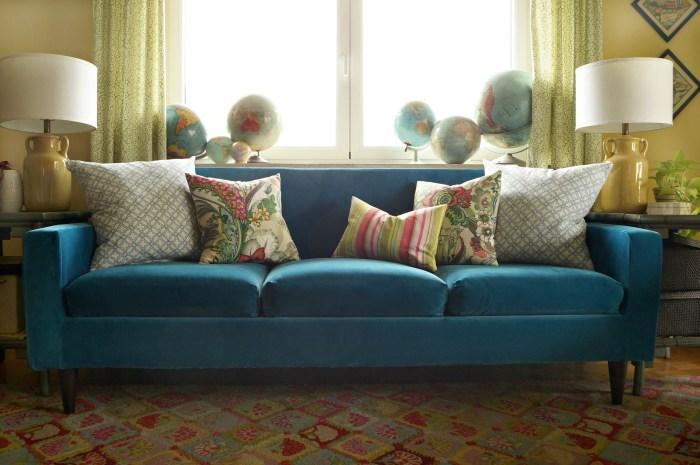 Finally, A Blue Velvet Sofa!