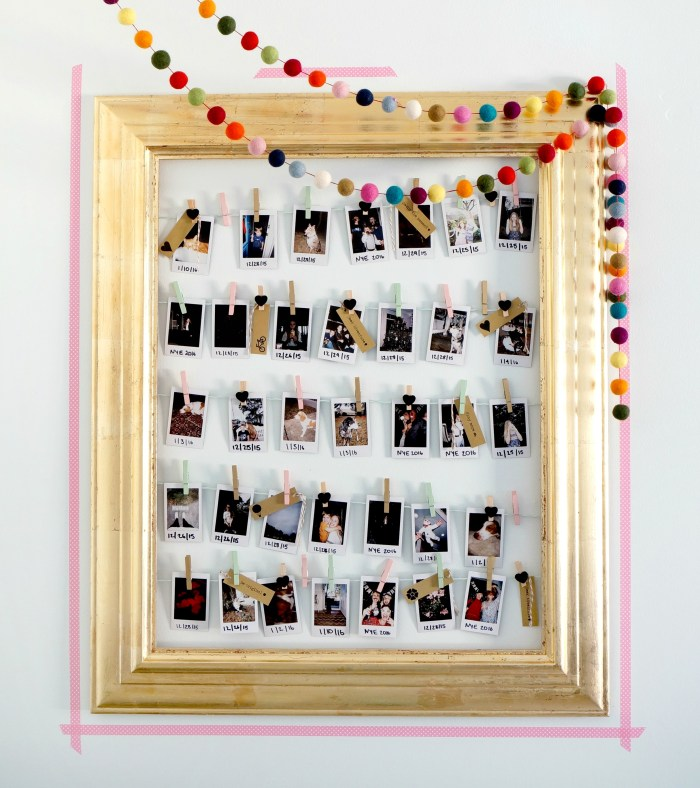 DIY Clothes Line Photo Display Frame