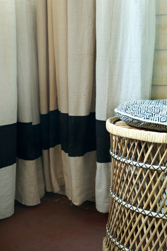No Sew Drop Cloth Curtains and Budget Rods