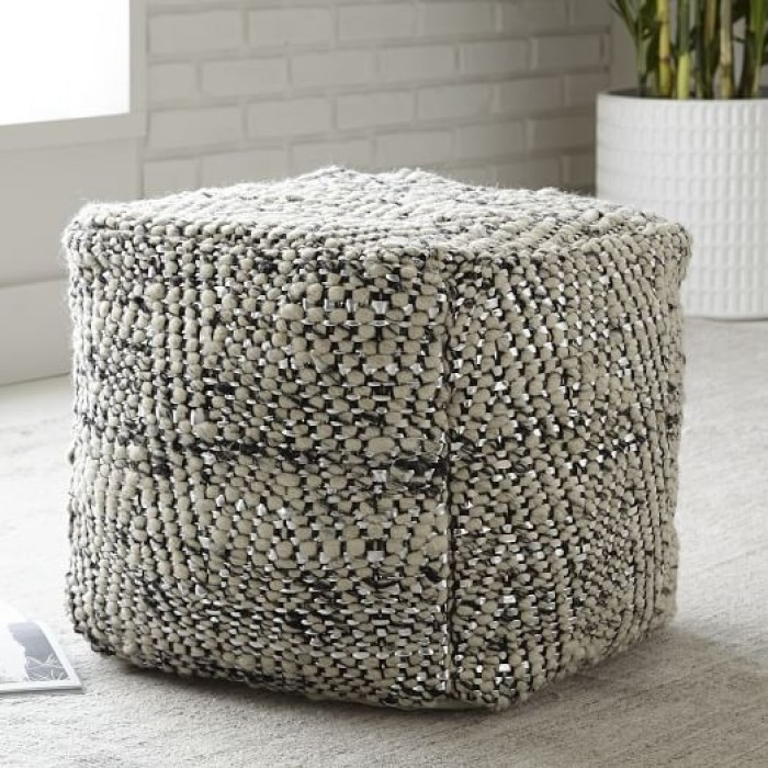 herringbone-metallic-wool-pouf-c