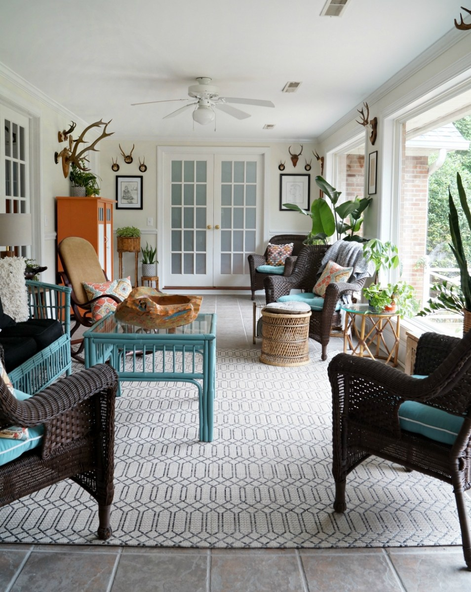 British Colonial Sun Room Re-Mix