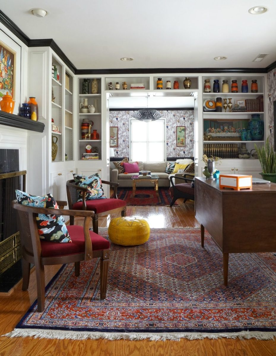 Make A Living Room A Library: One Room Challenge Reveal