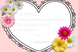 FREE Last Minute Mother's Day Print and Trace