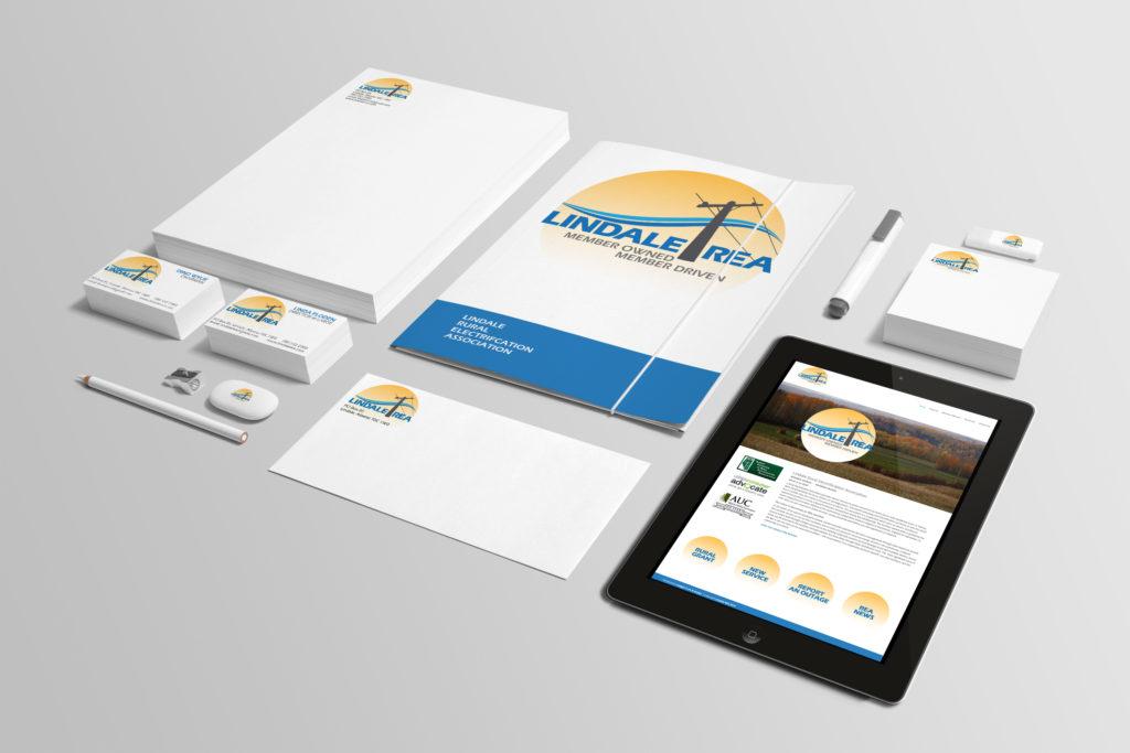 Branding package for Lindae REA designed by Maggie Ziegler artist and designer