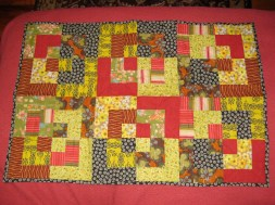 Baby Quilt, Bento Box Pattern - Cotton.