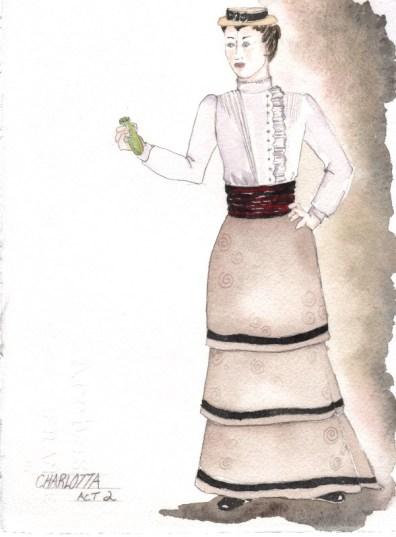 Cherry Orchard - Rendering of Charlotta Act 2