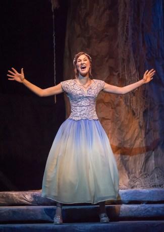 Alex Roberts in Cinderella's Ball Gown, Xavier University.