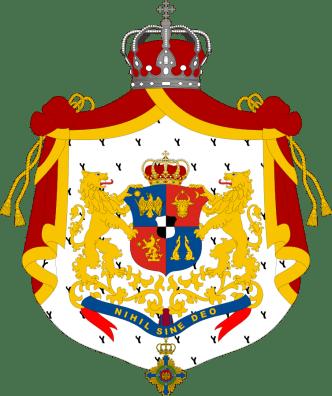 Regatul României - Stemă folosită între 1881-1921 (mare), variantă