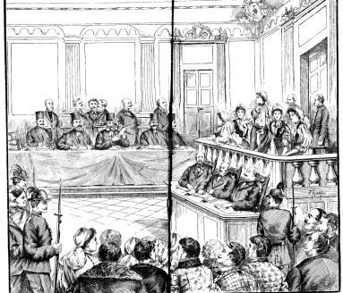 Procesul cocoardei tricolore - sala judecătoriei