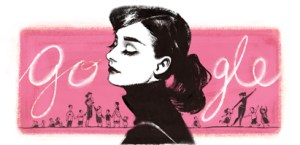 Audrey Hepburn Google Doodle from May 4, 2014