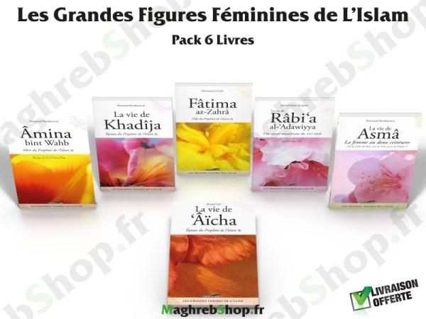 pack 6 livres : Les grandes Figures Félinines de l'islam