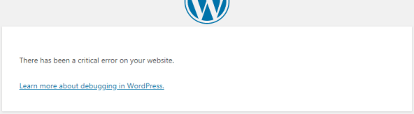 WordPress - There has been a critical error on your website.