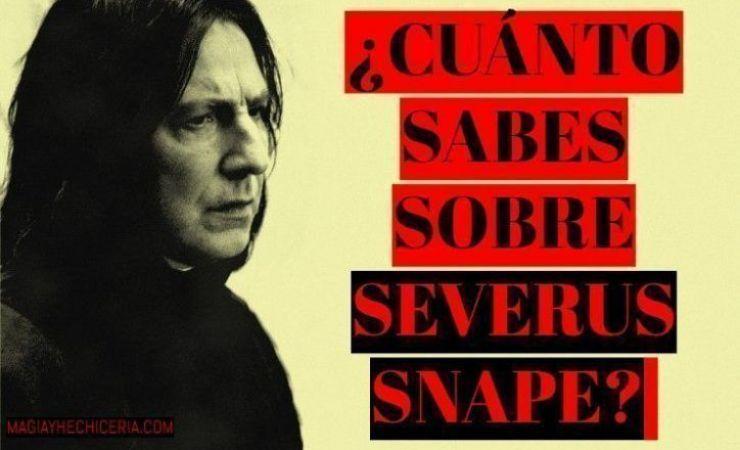 Test sobre Severus Snape, ¿Cuánto sabes sobre él?
