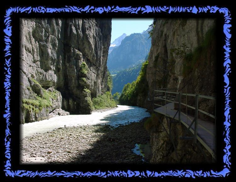 View out of the Gulch of the Aare