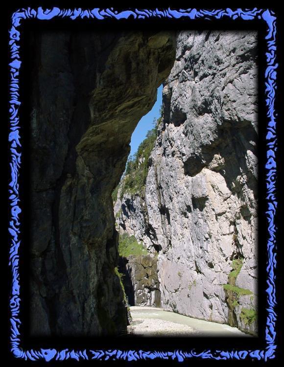 Felswände in der Aareschlucht