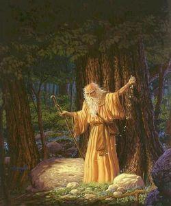 Keltischer Druide an einer der Kultstätten