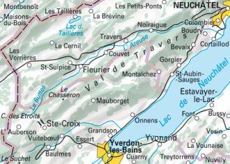 Val de Travers - Karte