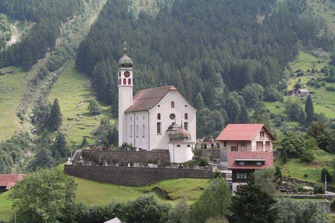 Kirche von Wassen im Kanton Uri