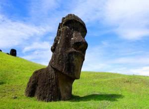 Moai Figure at Rapa Nui
