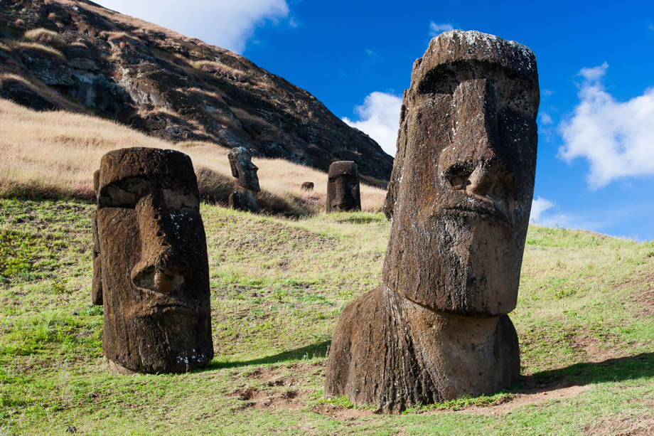 Moais Figures at Easter Island
